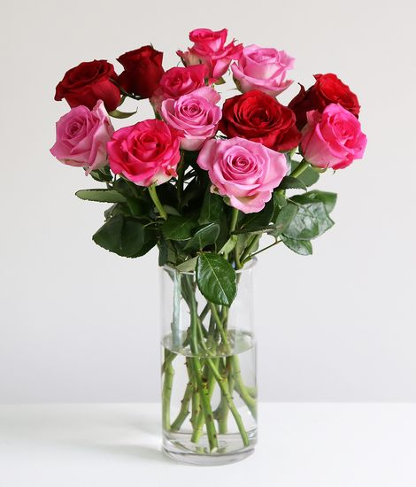 A DozenMixed Valentine's Roses