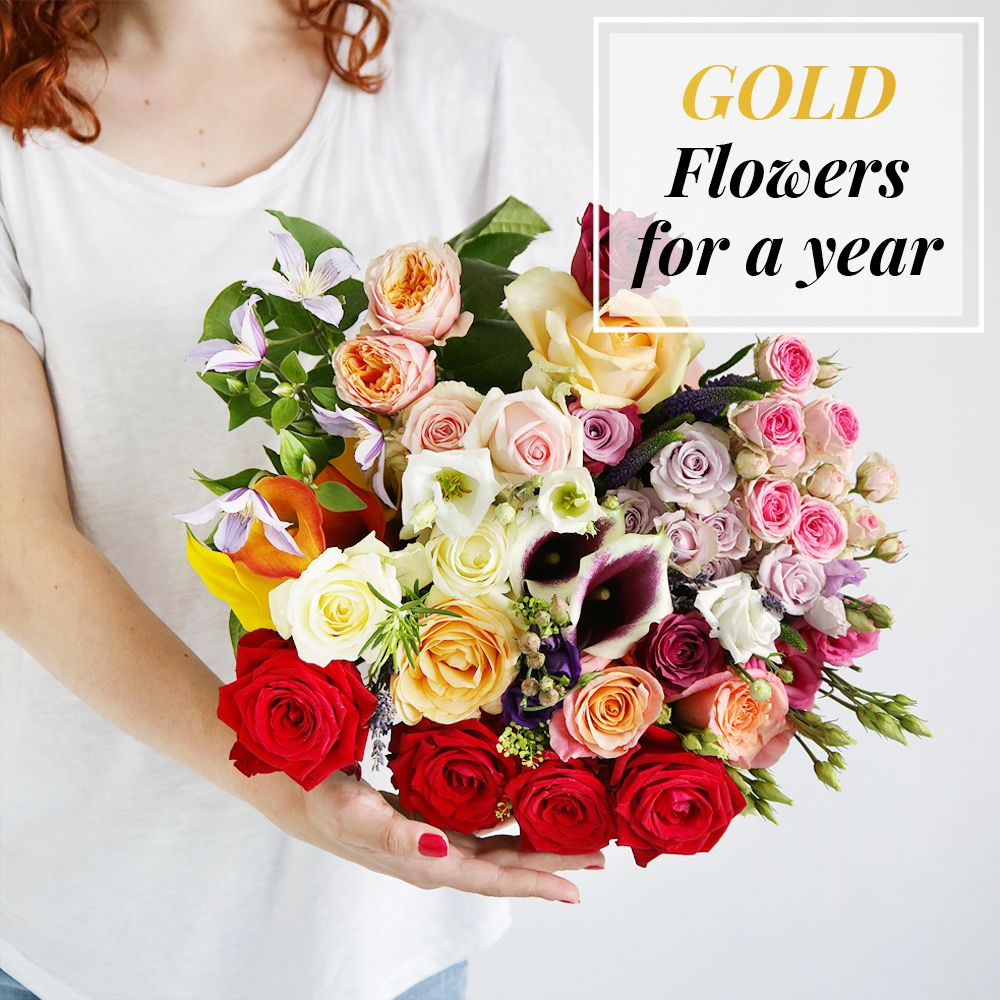 Image of Flowers For A Year | Gold Collection - flowers