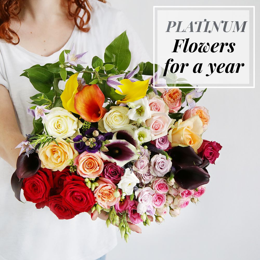Image of Flowers For A Year | Platinum Collection - flowers