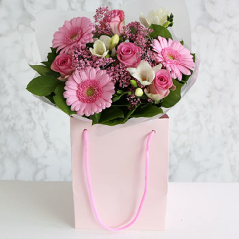 Baby Girl Gift Bag - flowers