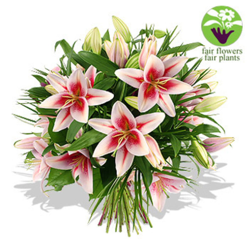 Image of Pink Lily Bouquet - flowers