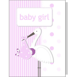 Greeting Card - New Baby Girl