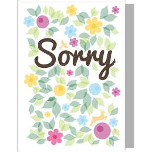 Greeting Card - Sorry