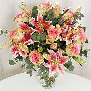 Classic Rose & Lily Bouquet