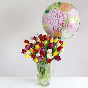 Mother's Day Tulips Gift Set  - 50% Extra  Free